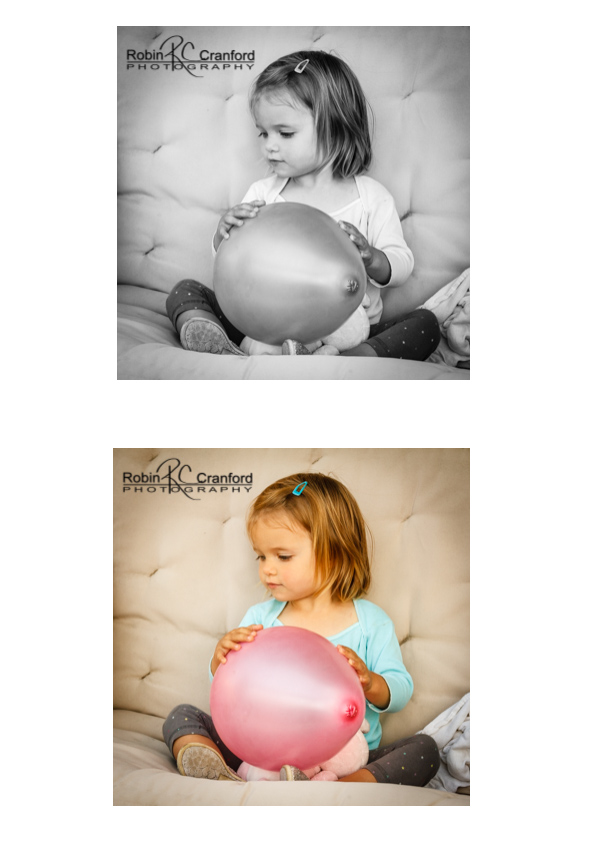 Little girl with balloon.