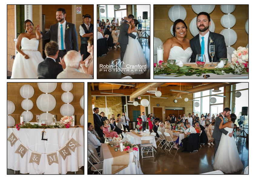 The Reception.  A new life begins together.  Romance is in the air!
