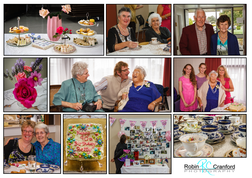 A 90th Birthday celebration surrounded by family & friends.