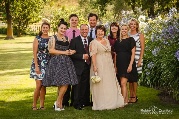Family portrait on the grounds of Church Road Winery, Napier.